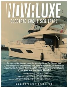 Nova Luxe Electric Yacht Sea Trial @ Westshore Yacht Club