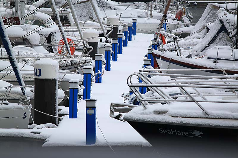 Preparing the yacht for winter storage