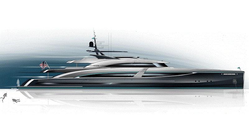 Autonomes 58-Meter-Superyacht-Konzept